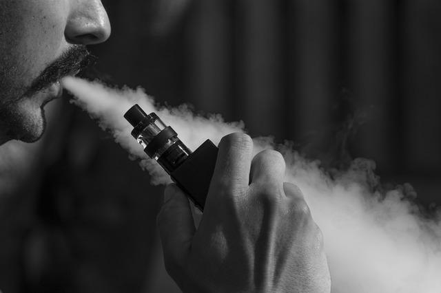 Røg fra e cigaret